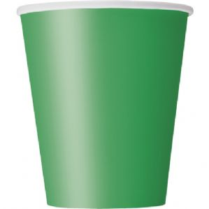 Emerald Green Paper Cups 9oz (270ml) (14pcs)